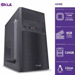 computador home dual core j1800 2.41ghz  8gb  ssd 120gb hdmi 200w