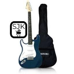 Guitarra para Canhoto SST-5/L-RBL (azul) - Suzuki (NOVA)