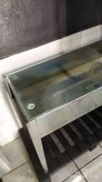 Estantes e lavador de peças em zinco