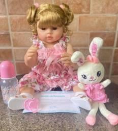 Título do anúncio: Linda Bebê Reborn toda em Silicone Realista 50cm Nova Original (aceito cartão )