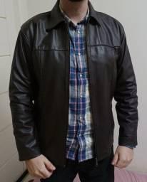 Jaqueta de couro Masculina tamanho M - Marrom