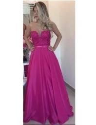 Vestido Rosa tule Formatura   Casamento   Aniversário 827ab262b0ac