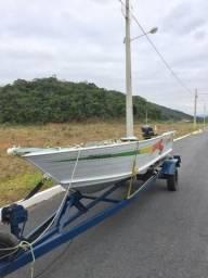 Barco de pesca ecologia completo, lancha motor 25 - 2014