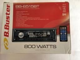 Toca Rádio Buster BB-6515BT com Bluetooth USB/SD 800 Watts - Preto