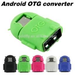 Cabo Otg Micro Usb Pendrive Mouse Teclado Android