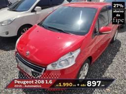 Peugeot 208 Active Automático - 2015 - Aceito Carro ou Moto como entrada - 2015