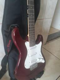 Guitarra Strato Strinberg Sts-100 Cherry + Capa + Cabo + Brindes