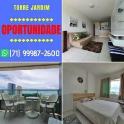 Fabuloso Torre Jardim, 1 quarto com 45m², vista mar em Armação | Garanta |