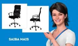 Cadeira De Escritório Diretor Charles Eames Eiffel Mesh Preta - Cadeiras Inc Preto