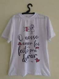 Camisaetas Amor Personalizadas PROMOÇÃO