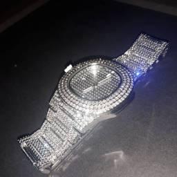 Relógio Cravejado Patek Style Trap