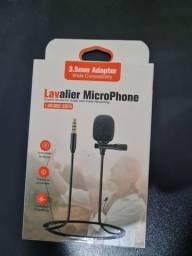 Título do anúncio: Microfone de lapela para o celular
