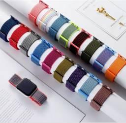 Título do anúncio: Pulseira Nylon com Velcro Para Apple Watch e Smartwatch - Tamanho 42/44MM