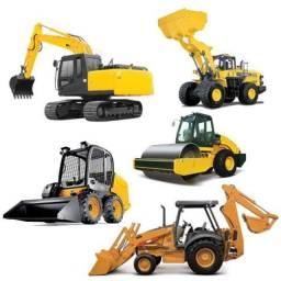 Variedade de tratores e máquinas agrícolas