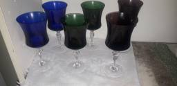 Taças de Cristais Coloridas