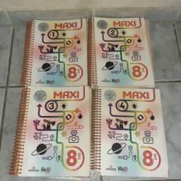 Livros sistema maxi de ensino 8° ano seminovo usado