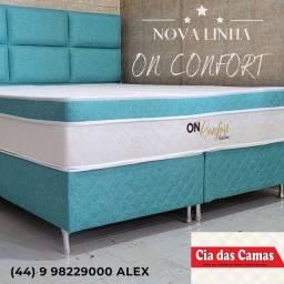 Título do anúncio: Cama box ON CONFORT mais espuma en sua cama
