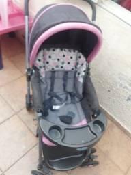Título do anúncio: Carrinho de bebê Cosco rosa