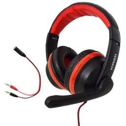 Headset Gamer kaidi p3 mais adaptador p2xp2 ENTREGA GRATIS