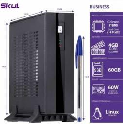mini computador dual core j1800 2.41ghz 4gb ddr3 ssd 60gb hdmi ext. 60w