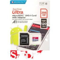 Cartão de Memoria 256gb Micro Sd Cl10 100mb/s Ultra Plus Sandisk