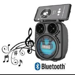 Título do anúncio: Caixinha De Som Portátil Bluetooth Fm Mp3 Cartão Sd Pendrive