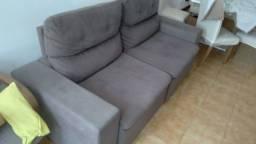 Título do anúncio: Sofá retrátil reclinável cinza grandes 2.20