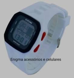 Relógio esportivo pulseira 100%borracha a prova de água