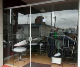 Porta de vidro, com fachada