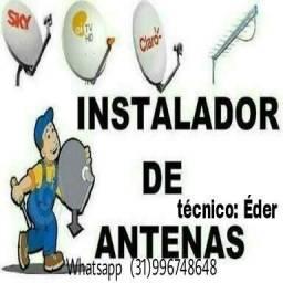Instalador de antenas via satélite e antenista digital