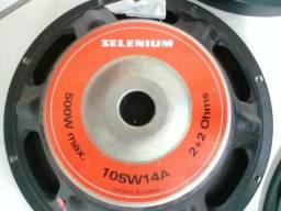 Par Sub Wooffer Selenium 250w Rms Bobina Dupla