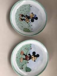Pratinhos de porcelana