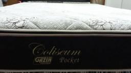Colchão Queen Gazin Coliseum Premium Molas Pocket Ensacadas