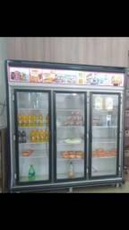 Geladeira Gelopar 3 portas e adega de bebidas seminovos