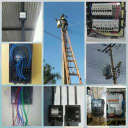 Eletricista baixar tensão disponível