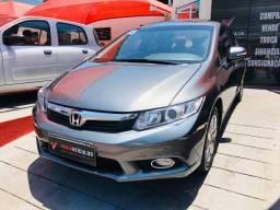 Civic EXS - 2013 - Teto Solar - Super Novo - Veiga Veículos - 2013