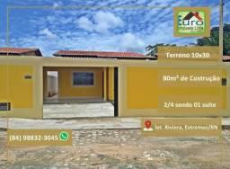 Casas com documentação grátis, no centro de Extremoz RN