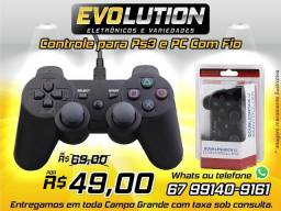 Controle Ps3 e Pc Com Fio Ps3 Dualshock Playstation 3 Joypad Promoção