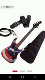 Kit guitarra com cubo meteoro
