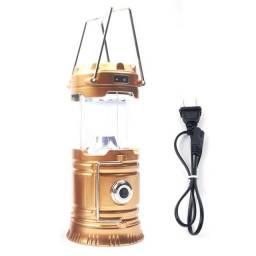 Lanterna led portátil alimentado por energia solar