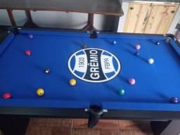 Mesa Charme Carlin Cor Preta Tecido Azul Logo Grêmio Mod. JOBV9633