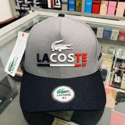Boné Lacoste France 33 Cinza com Azul Marinho comprar usado  Uberlândia