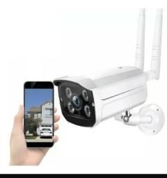 Câmera ip externa prova d'água sem fio monitore pelo celular