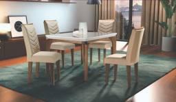 Bom gosto e qualidade! Mesa de jantar 4 cadeiras lond chame 97970//4415