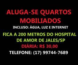 Aluga-se quartos para pacientes do Hospital de Amor em Jales/SP