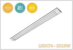 Luminária Abalux 2x18w 1,20cm 6000k