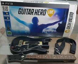 vendo esses acessórios para PS3 uma Guitarra e um DJ HERO