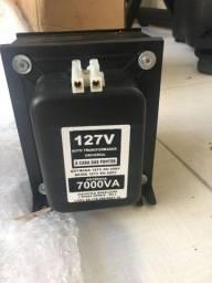 Título do anúncio: Transformador 7000va 127v - 220v (novo)