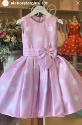Título do anúncio: Vestido Minnie Rosa