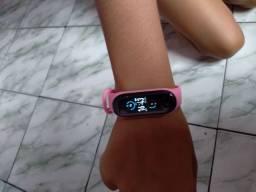 M5 Pulseira Smartwatch Bluetooth 4.2 Monitor De Pressão Arterial E Smartband